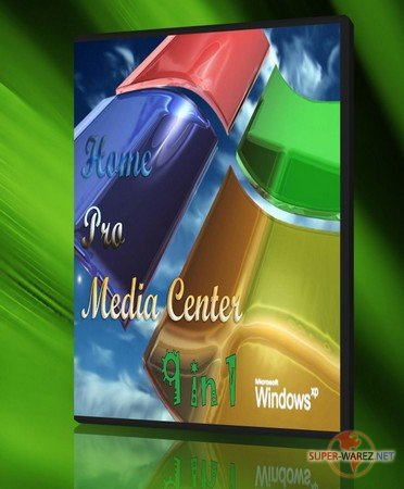 Windows XP Service Pack 3: Home/Pro/Media Center (9 in 1)
