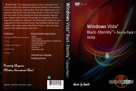 Windows Vista Black Eternity 64-bit