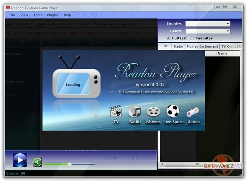 Readon TV Movie Radio Player 4.2.0.0