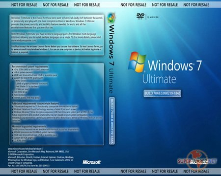 Microsoft Windows 7 Build 7048.0.090219-1845 32Bit