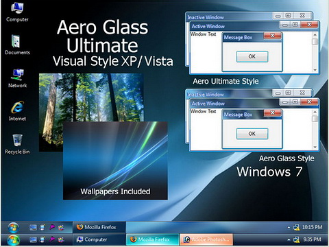 Windows 7 Aero Glass Ultimate