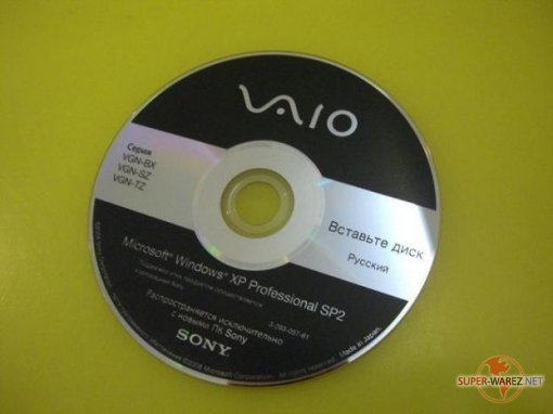 Downgrade Disc SONY VAIO (серии VGN-BX-SZ-TZ)