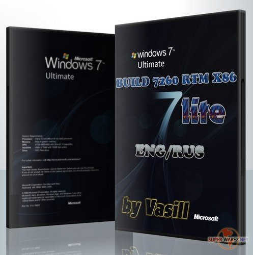 WINDOWS 7 BUILD 7260 RTM X86 EN/RU (by vasill) Lite