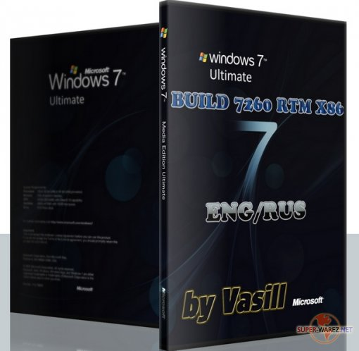 WINDOWS 7 BUILD 7260 RTM X86 EN/RU (by Vasill)