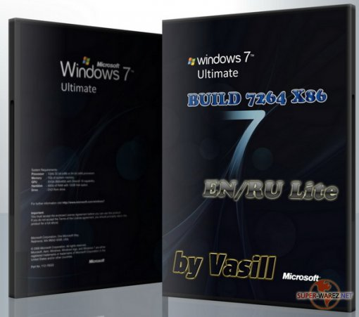 Windows 7 Build 7264 X86 EN/RU (by vasill) Lite