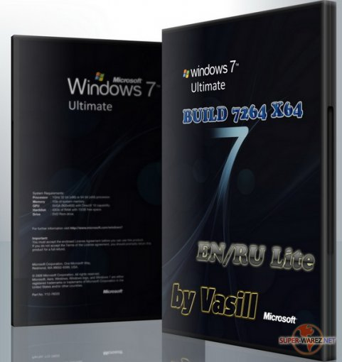 WINDOWS 7 BUILD 7264 X64 EN/RU (by vasill) Lite