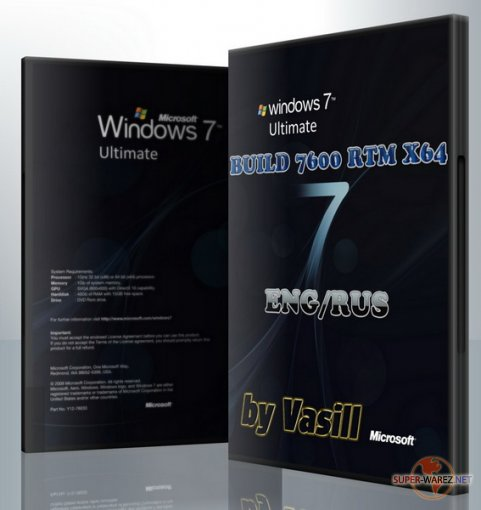 Windows 7 Build 7600 X64 EN/RU (by vasill)
