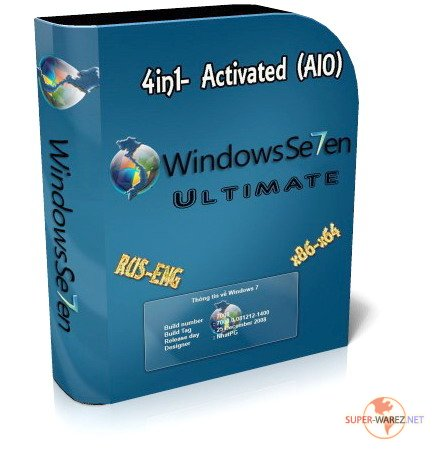 Windows 7 Ultimate x86/x64 4in1 Activated (AIO) by m0nkrus (2009/RUS/ENG)