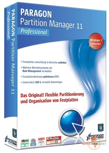 Paragon Partition Manager 11 Professional 10.0.17.13146 RUS Retail + (Boot CD's)