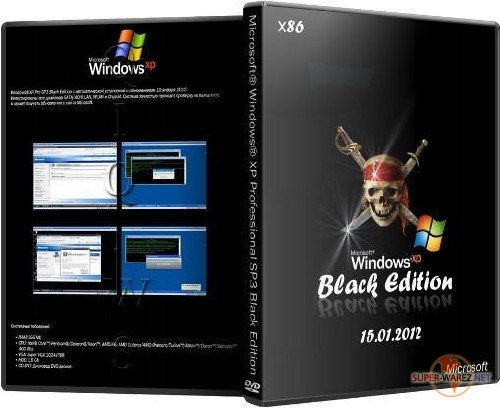 Microsoft  Windows  XP Professional SP3 Black Edition (х86/ENG/RUS) (15.01.2012)