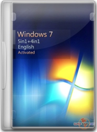 Windows 7 SP1 5in1+4in1 English (x86/x64) 15.02.2012