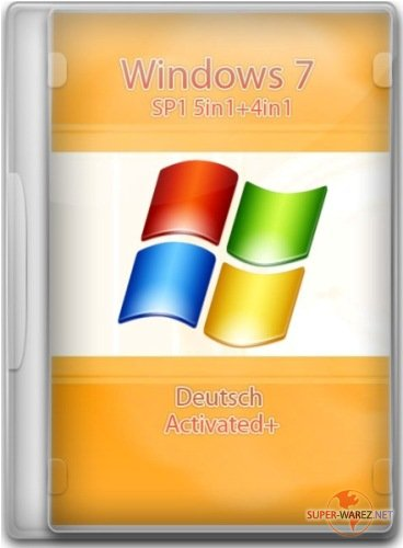 Windows 7 SP1 5in1+4in1 Deutsch (x86/x64) 16.02.2012