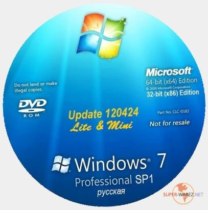 "Microsoft Windows 7 Professional SP1 ""PROFI-LM"" 120424 (x64/x86/RUS/2012)"