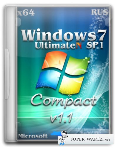 Windows 7 UltimateN SP1 x64 Compact v1.1 (2012/RUS)