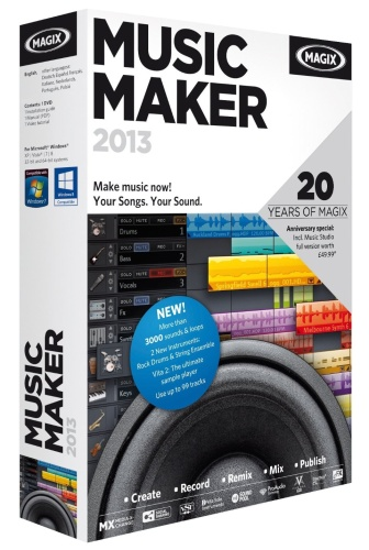 MAGIX Music Maker 2013 v 19.0.3.47 (русская версия)