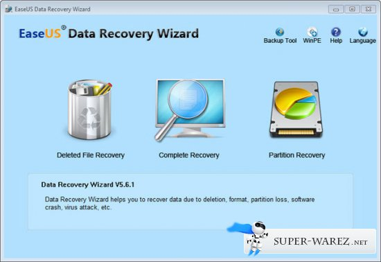 EASEUS Data Recovery Wizard WinPE Edition 5.6.1 Retail