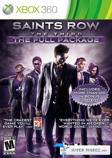 Saints Row The Third The Full Package (2012/RF/RUS/XBOX360)