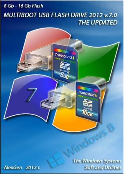 USB FLASH DRIVE 2012 v.7.0 for 8 - 16 Gb. FLASH - USB to DVD by AlexGen