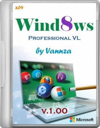 Windows 8 Professional VL by Vannza v1 (X64/2012/RUS)