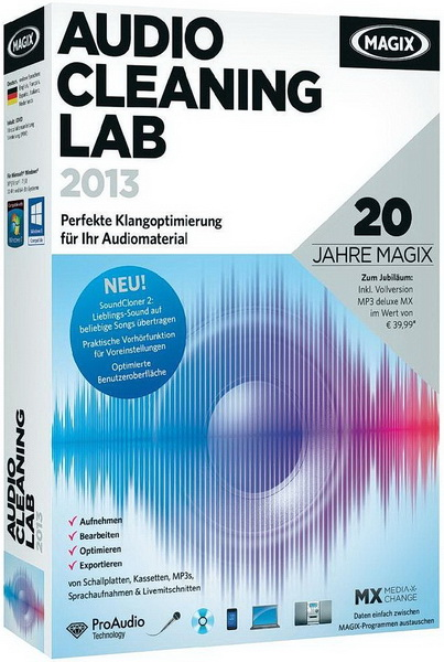 MAGIX Audio Cleaning Lab 2013 19.0.0.10
