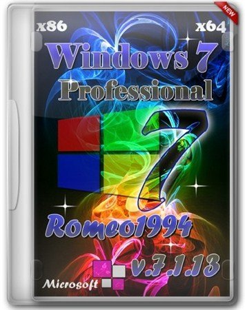 Windows 7 x64/x86 Professional by Romeo1994 v.7.1.13 (2013/RUS)