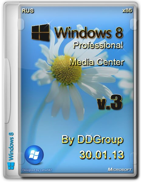 Windows 8 Pro with Media Center x86 by DDGroup v.3 (RUS/2013)