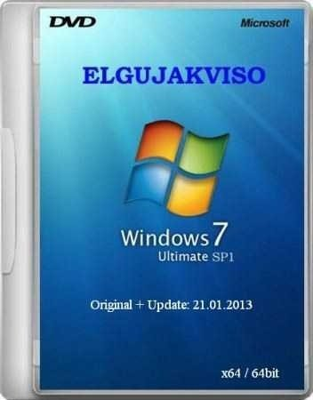 Windows 7 Ultimate SP1 x64 v.2 Elgujakviso Edition (02.2013/RUS)