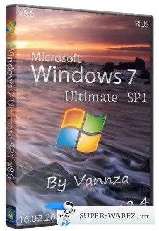 Windows 7 Ultimate SP1 x86 by Vannza v 2.4 (2013/RUS)