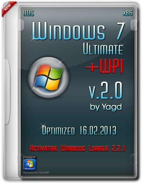 Windows 7 Ultimate SP1 Optimized+ WPI 16.02.2013 v.2.0 (Rus/x32)