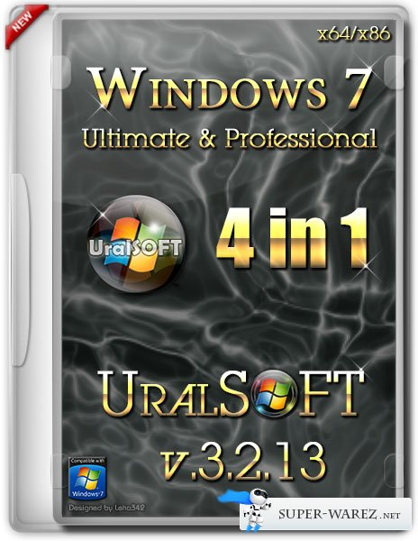 Windows 7 x64/x86 UralSOFT 4 in 1 v.3.2.13 (RUS/2013)