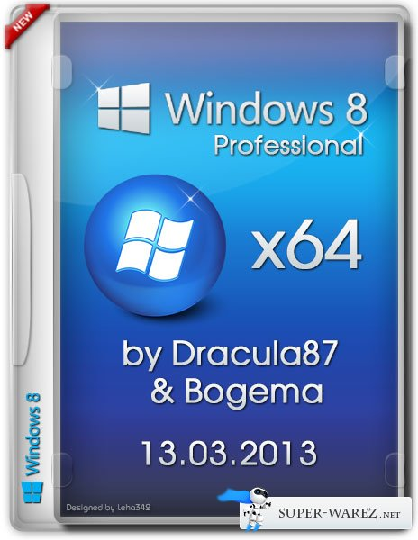 Windows 8 Professional VL x64  by Dracula87/Bogema (RUS/13.03.2013)