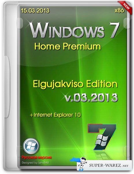 Windows 7 Home Premium x86 Elgujakviso Edition v.03.2013 (RUS)