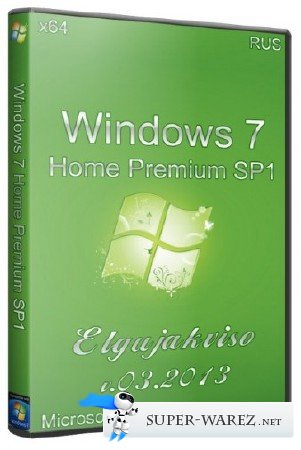 Windows 7 Home Premium SP1 x64 Elgujakviso Edition (03.2013/RUS)
