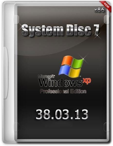 System disc 7  Microsoft Windows® XP Professional Edition Service Pack 3 v.38.03.13 (RUS/х86)