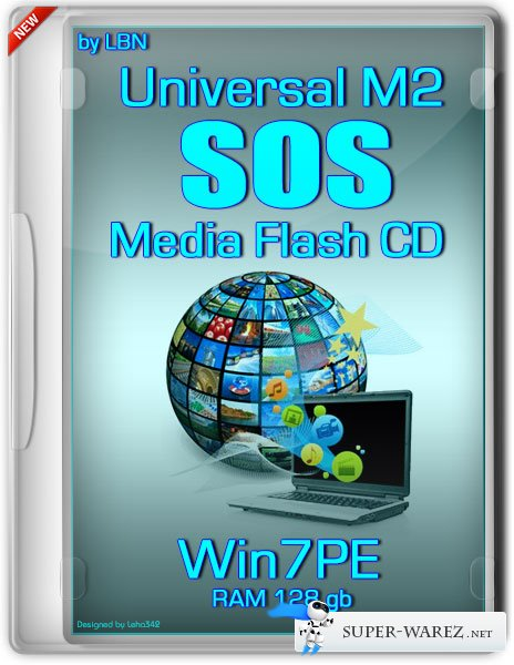 Universal M2 SOS Media Flash CD Top Box Win7pe RAM 128 gb (RUS/2013)