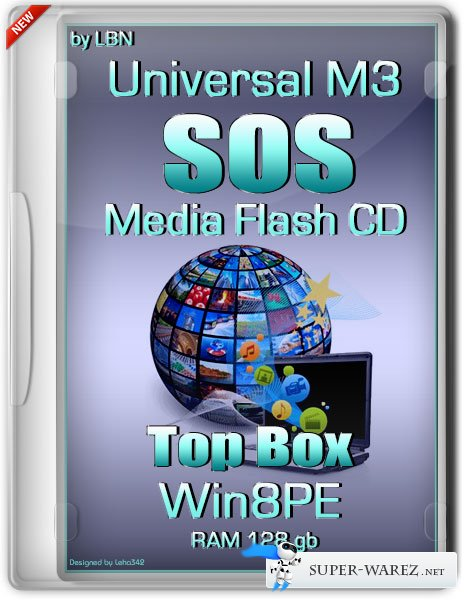 Universal M3 SOS Media Flash CD Top Box Win8pe RAM 128 gb (RUS/2013)
