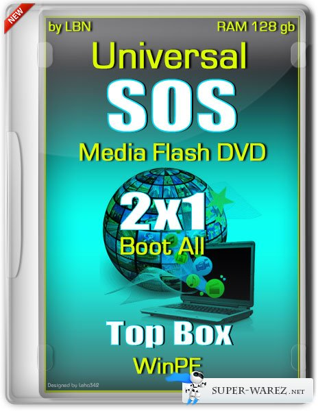 Universal SOS Media Flash DVD Top Box WinPE RAM 128 gb 2x1 Boot All (RUS/2013)