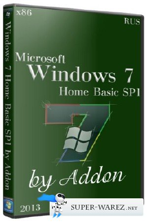 Windows 7 x86 Home Basic SP1 by Addon (2013/RUS)