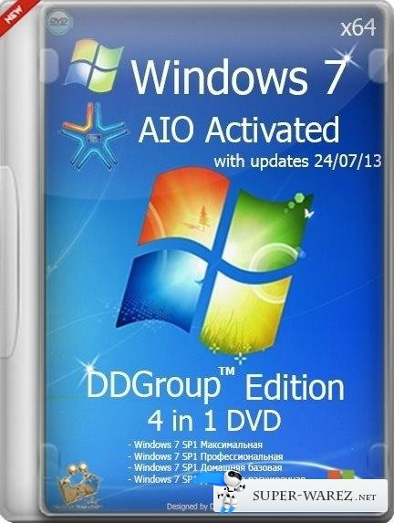 Windows 7 SP1 4in1 DVD v.24.07 DDGroup™ Edition AIO Activated (x64/2013/RUS)