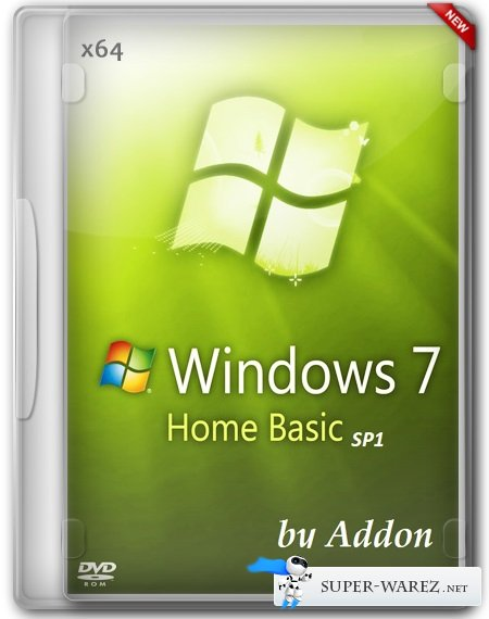 Windows 7 x64 Home Basic SP1 by Addon (RUS/2013)