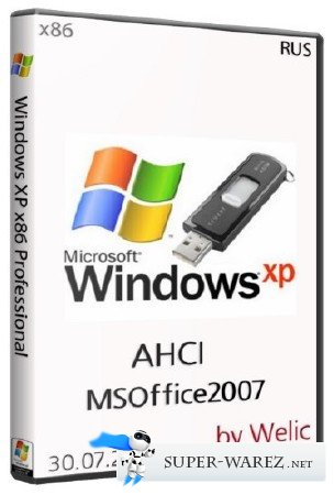 Windows XP Pro SP3 AHCI MSOffice 2007 VHD (x86/30.07.2013/RUS)