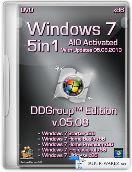Windows 7 SP1 x86 5in1 DVD v.05.08 DDGroup™ Edition AIO Activated (2013/RUS)