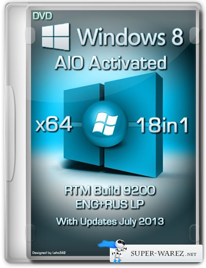 Windows 8 x64 18in1 RTM Build 9200 AIO Activated (ENG/RUS/July 2013)