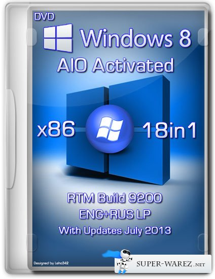 Windows 8 x86 18in1 RTM Build 9200 AIO Activated (ENG/RUS/July 2013)