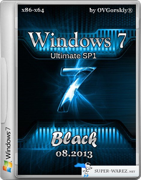Windows 7 Ultimate x86/x64 SP1 Black by OVGorskiy® 08.2013 (2 DVD/RUS)