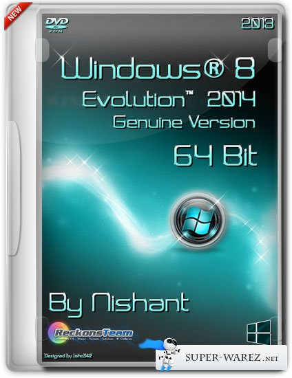 Windows® 8 Evolution™ 2014 x64 Genuine Version By Nishant (ENG/RUS/2013)