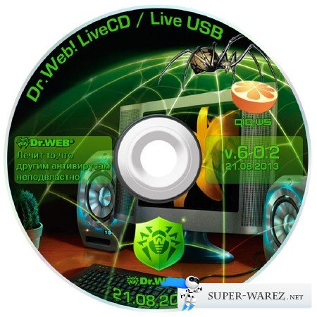 Dr.Web LiveCD 6.0.2 / LiveUSB 6.0.2.8200 / Dr.Web 6 Portable Scanner v7 by HA3APET & Joker-2013 / Dr.Web CureIt! 8.2.0 (21.08.2013)