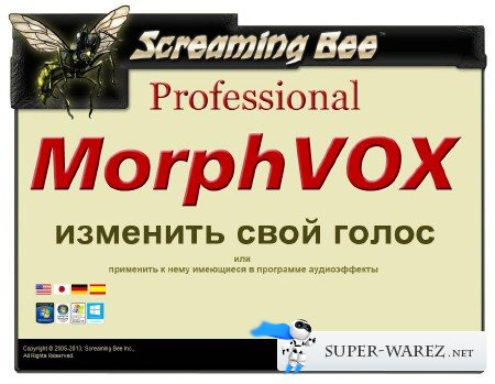 Screaming Bee MorphVOX Pro 4.4.7 Build 26164 Deluxe Pack