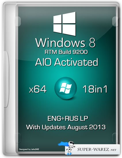Windows 8 x64 18in1 RTM Build 9200 AIO Activated (ENG/RUS/August 2013)