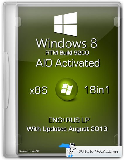 Windows 8 x86 18in1 RTM Build 9200 AIO Activated (ENG/RUS/August 2013)